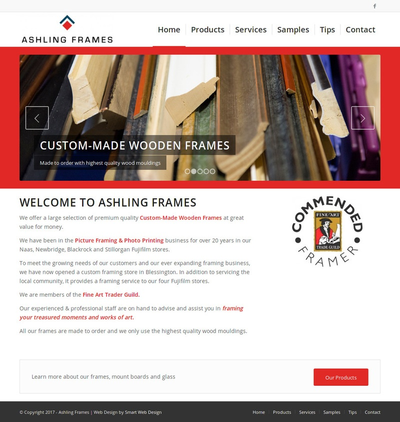 Ashling Frames - Smart Web Design